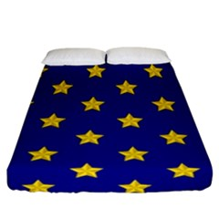 Star Pattern Fitted Sheet (california King Size)