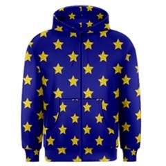 Star Pattern Men s Zipper Hoodie