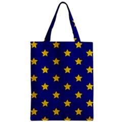 Star Pattern Zipper Classic Tote Bag