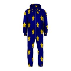 Star Pattern Hooded Jumpsuit (kids)