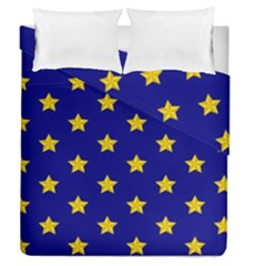 Star Pattern Duvet Cover Double Side (queen Size)