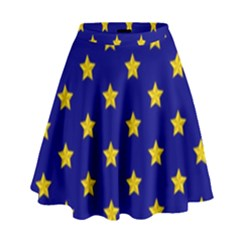 Star Pattern High Waist Skirt