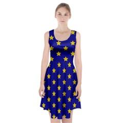 Star Pattern Racerback Midi Dress