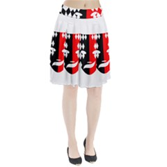 Face Mask Red Black Plaid Triangle Wave Chevron Pleated Skirt