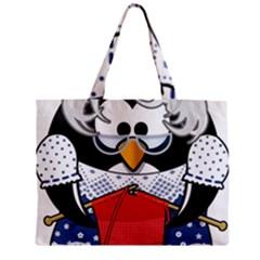Grandma Penguin Zipper Mini Tote Bag