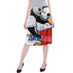 Grandma Penguin Midi Beach Skirt