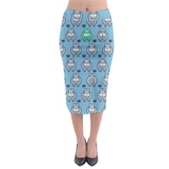 Funny Cow Pattern Midi Pencil Skirt