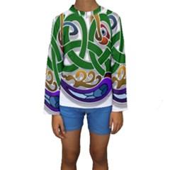 Celtic Ornament Kids  Long Sleeve Swimwear