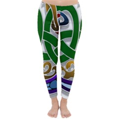 Celtic Ornament Classic Winter Leggings