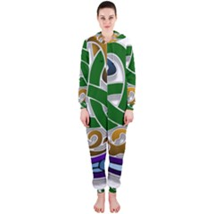 Celtic Ornament Hooded Jumpsuit (Ladies)