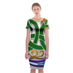Celtic Ornament Classic Short Sleeve Midi Dress