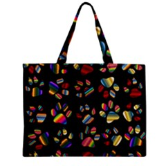 Colorful Paw Prints Pattern Background Reinvigorated Mini Tote Bag