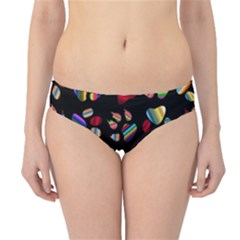 Colorful Paw Prints Pattern Background Reinvigorated Hipster Bikini Bottoms