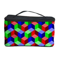 Seamless Rgb Isometric Cubes Pattern Cosmetic Storage Case