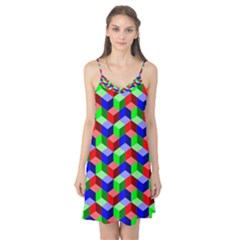 Seamless Rgb Isometric Cubes Pattern Camis Nightgown