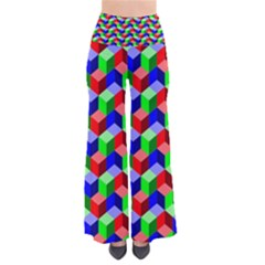 Seamless Rgb Isometric Cubes Pattern Pants