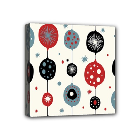 Retro Ornament Pattern Mini Canvas 4  x 4