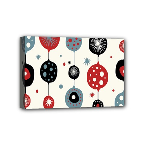 Retro Ornament Pattern Mini Canvas 6  X 4
