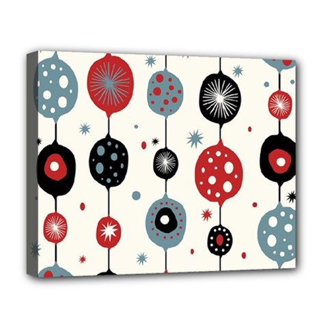 Retro Ornament Pattern Deluxe Canvas 20  x 16