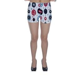 Retro Ornament Pattern Skinny Shorts