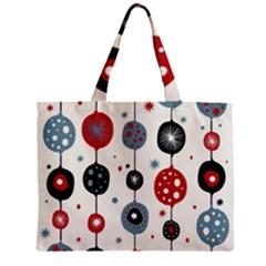 Retro Ornament Pattern Zipper Mini Tote Bag