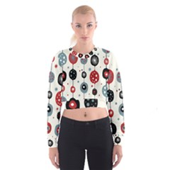 Retro Ornament Pattern Cropped Sweatshirt
