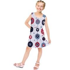 Retro Ornament Pattern Kids  Tunic Dress