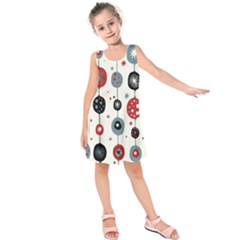 Retro Ornament Pattern Kids  Sleeveless Dress