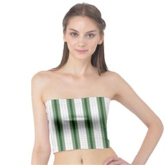 Plaid Line Green Line Vertical Tube Top