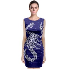 Scorpio Zodiac Star Classic Sleeveless Midi Dress