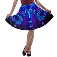 Sign Aries Zodiac A Line Skater Skirt