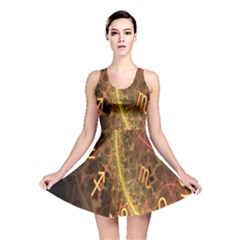 Romance Zodiac Star Space Reversible Skater Dress