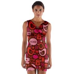 Xoxo! Wrap Front Bodycon Dress