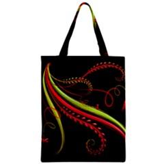 Cool Pattern Designs Zipper Classic Tote Bag