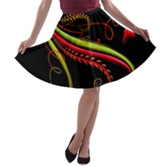 Cool Pattern Designs A Line Skater Skirt