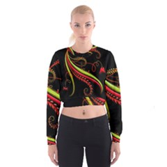 Cool Pattern Designs Cropped Sweatshirt