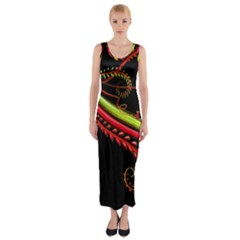Cool Pattern Designs Fitted Maxi Dress