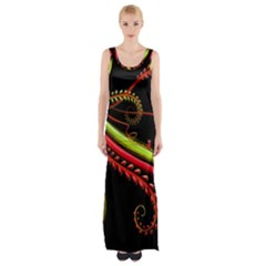 Cool Pattern Designs Maxi Thigh Split Dress