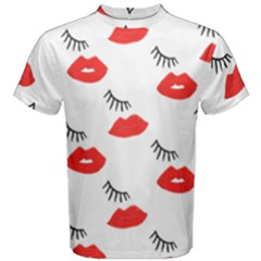 Smooch Pattern Design Men s Cotton Tee