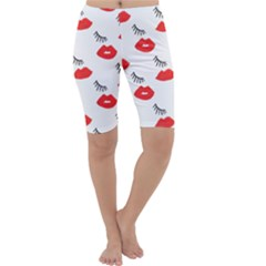 Smooch Pattern Design Cropped Leggings