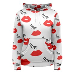 Smooch Pattern Design Women s Pullover Hoodie