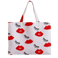 Smooch Pattern Design Zipper Mini Tote Bag