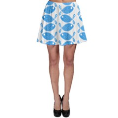 Fish Pattern Background Skater Skirt