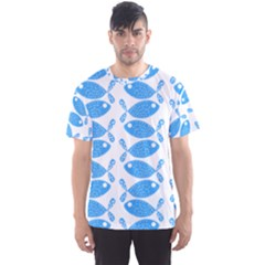 Fish Pattern Background Men s Sport Mesh Tee
