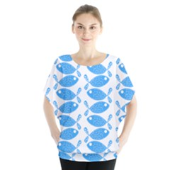 Fish Pattern Background Blouse
