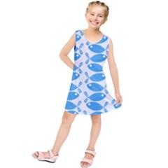 Fish Pattern Background Kids  Tunic Dress