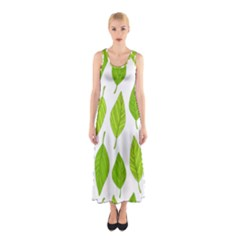 Spring Pattern Sleeveless Maxi Dress