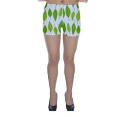 Spring Pattern Skinny Shorts