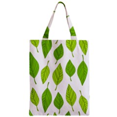 Spring Pattern Zipper Classic Tote Bag