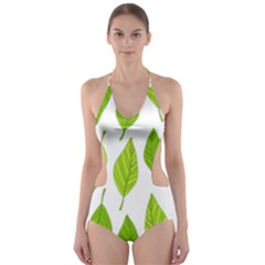 Spring Pattern Cut-Out One Piece Swimsuit